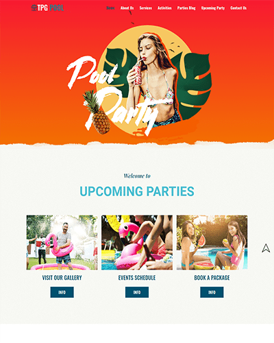 TPG Pool – Best Free Modern WordPress Festival theme