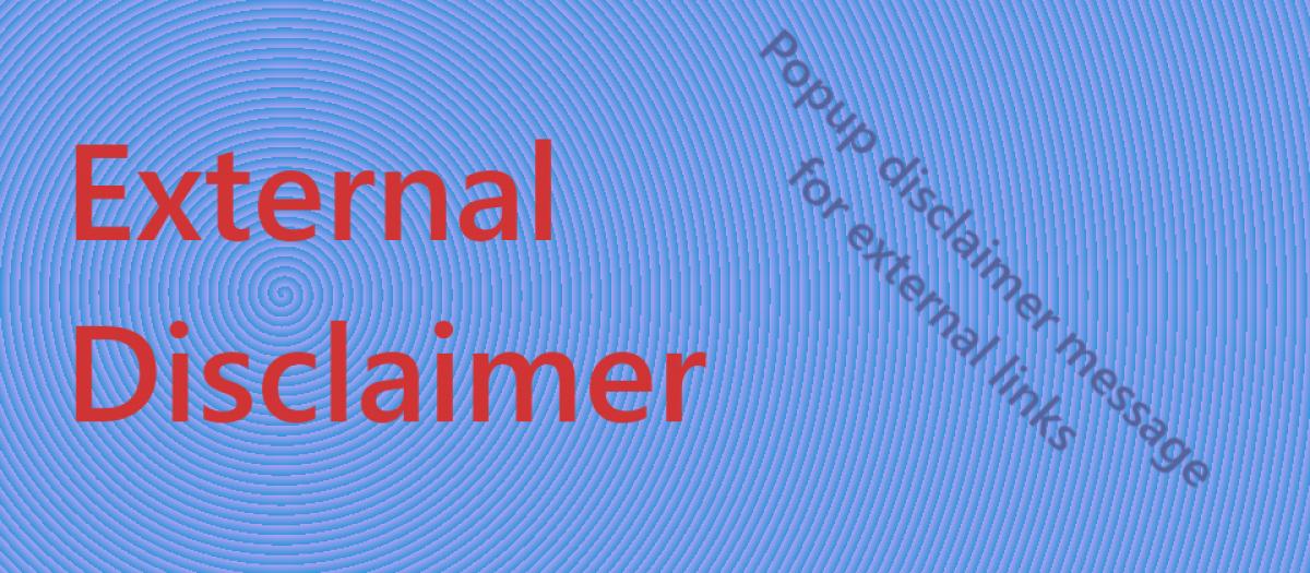 Externaldisclaimer