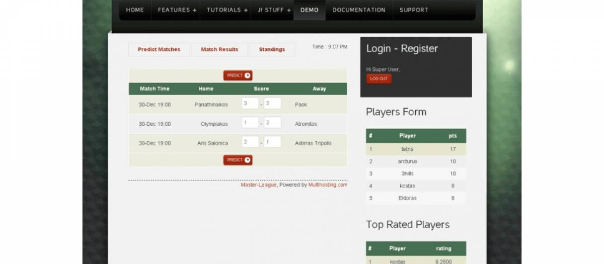 Master-League Sports Prediction Game