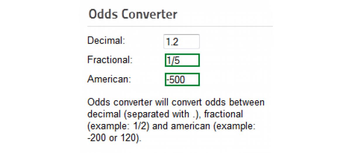 Odds converter lite