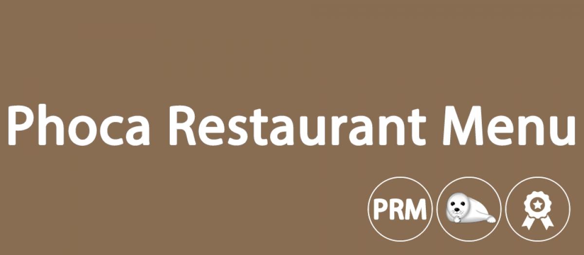 Phoca Restaurant Menu Lite