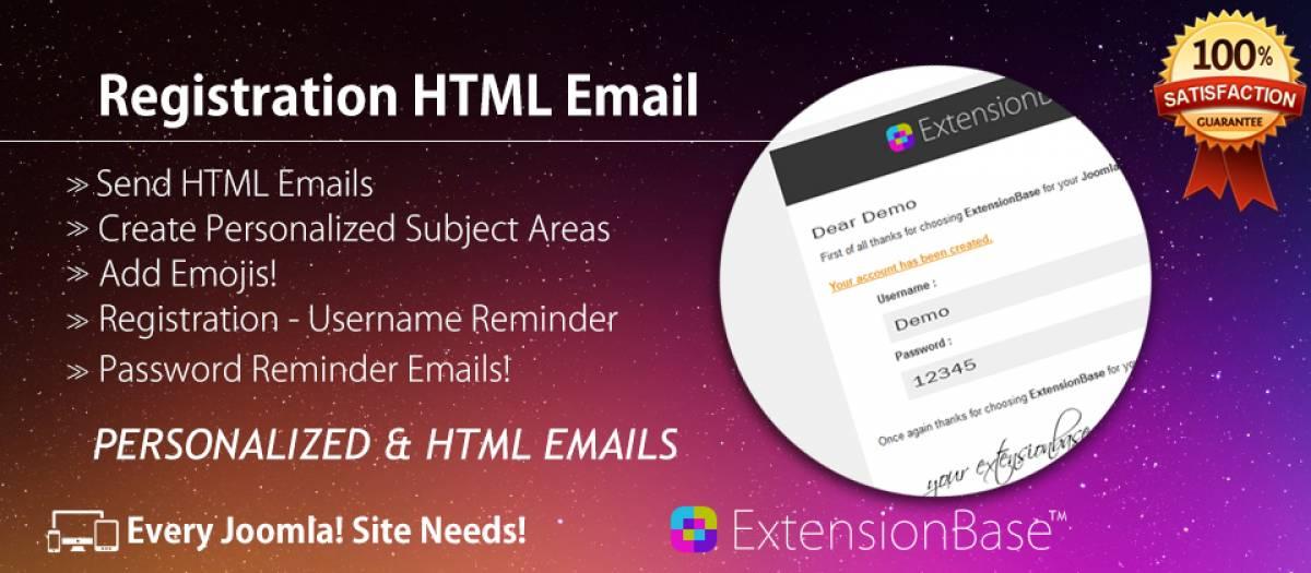 Registration HTML Email