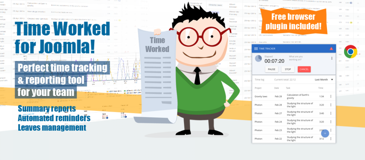 Time Worked for Joomla