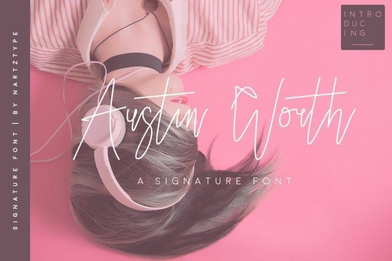 Austin Worth Free Signature Font