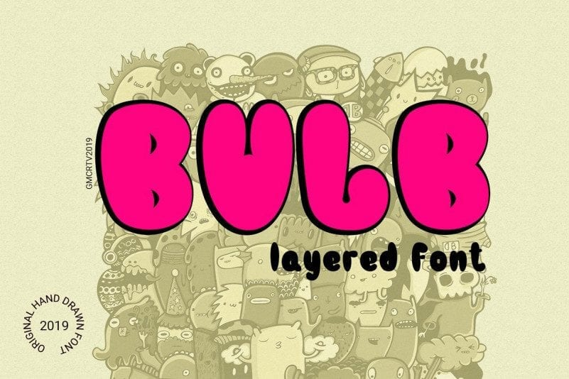 Bulb Free Typeface