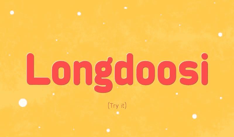 Free Longdoosi Font