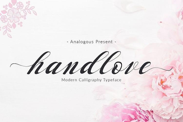 Handlove Free Script Font