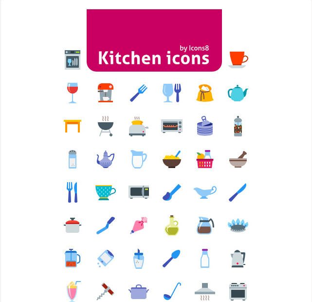 Free 50 Kitchen Icons