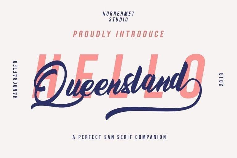 Queensland Free Script Font