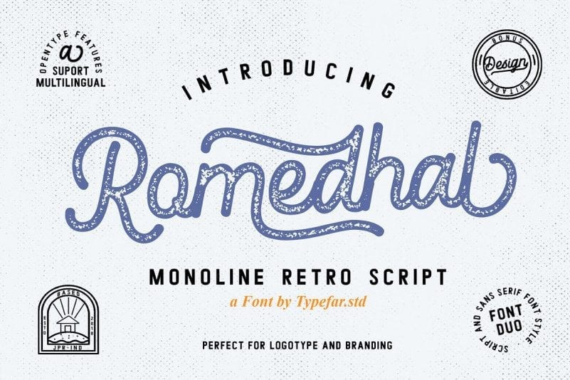 Free Romedhal Script Font