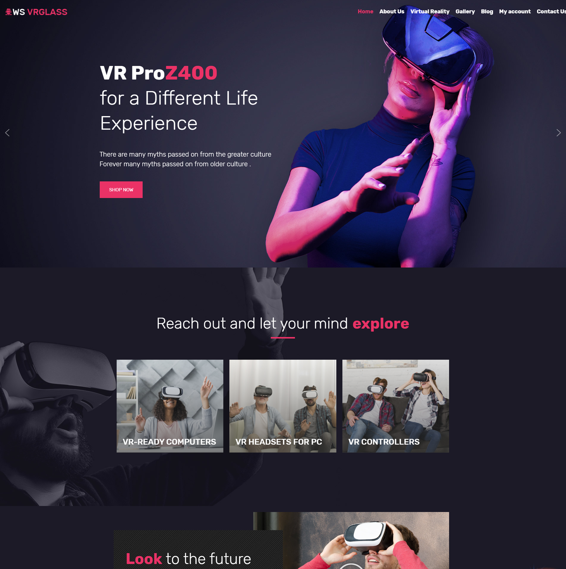 WS VRGlass – Free Virtual Woocommerce theme