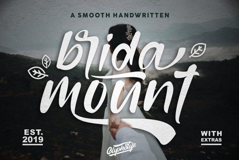 Free Bridamount Script Font
