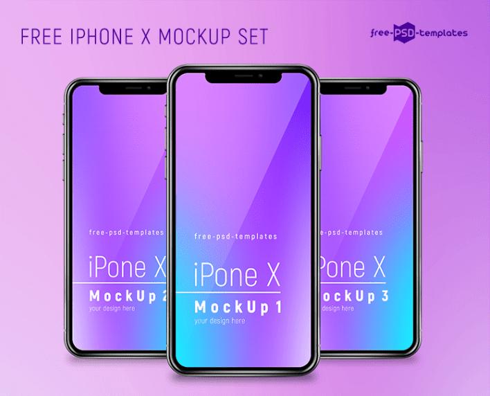 Free iPhone X Mockup Set