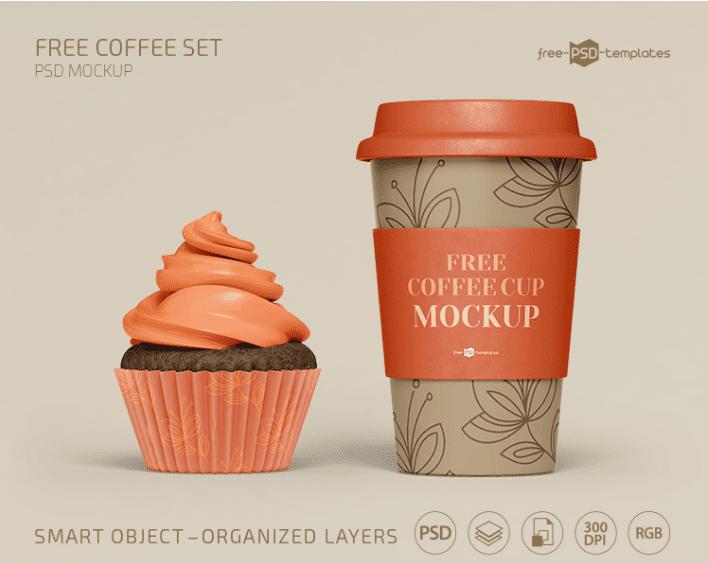 Free Coffee Mockup Template Set