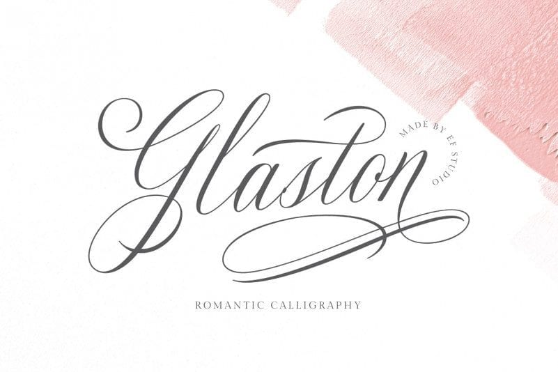 Free Glaston Calligraphy Font
