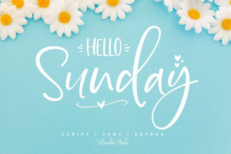 Hello Sunday Free Font Duo