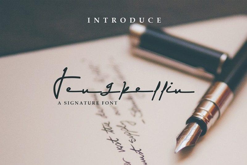 Free Jengkellin Signature Font