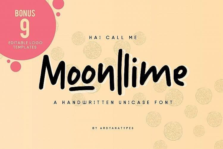 Moonllime Free Script Font