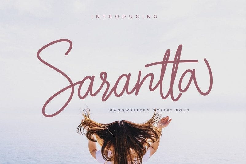 Free Sarantta Handwritten Script Font