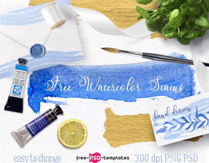 Free Watercolor Blue Spots