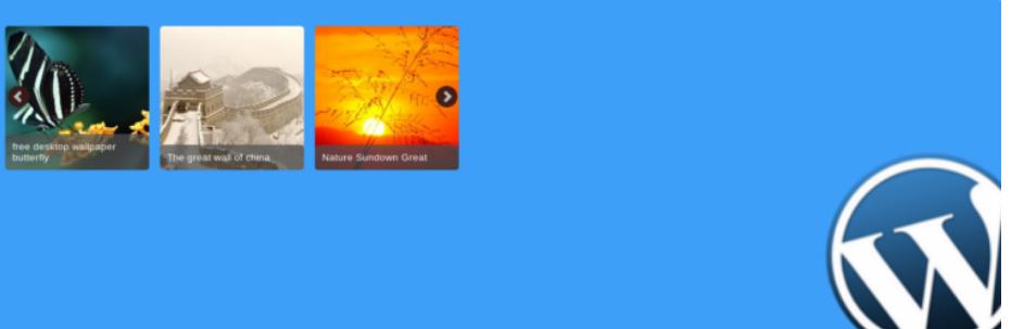 wordpress responsive thumbnail carousel slider