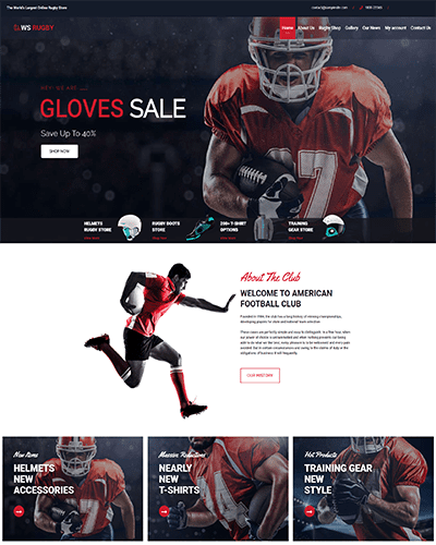 WS Rugby – Premium WordPress Football theme
