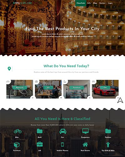 TPG Explore – Best Free Amazing Classified wordpress theme