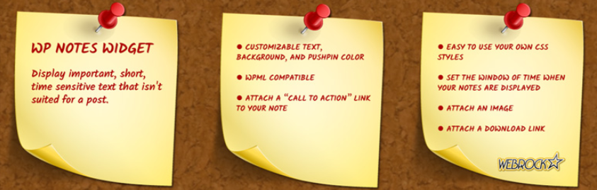 WP Notes Widget