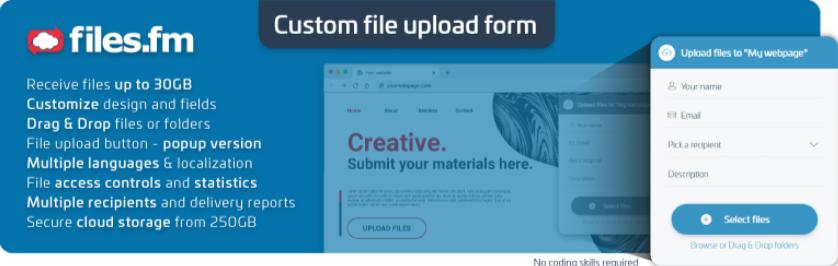 Files.fm File Upload Form