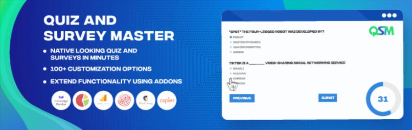 Quiz And Survey Master – Best Quiz Plugin for WordPress
