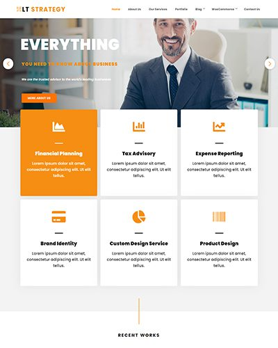 LT Strategy – Free responsive business wordpress themes