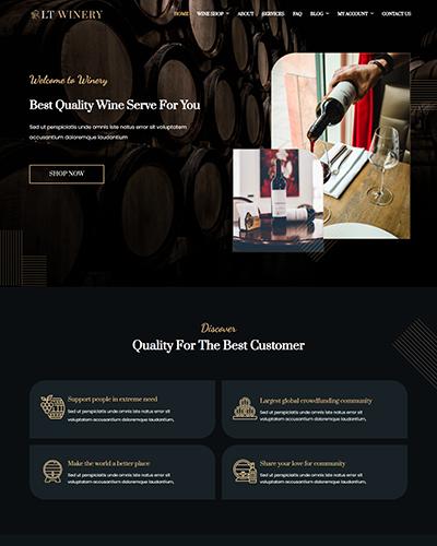 LT Winery – Free Wine Store Hikashop Joomla template