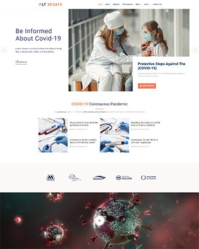 LT BeSafe – Free Responsive Medical WordPress theme