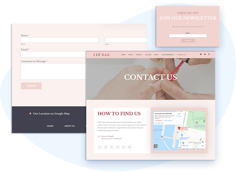 lt-nail-free-wordpress-theme-contact