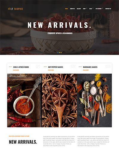 LT Taspice – Free Restaurant Joomla! template