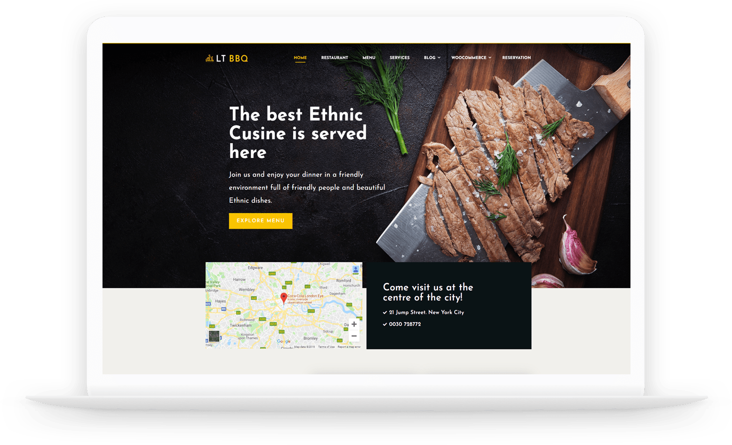 Lt Bbq Free Responsive Restaurant Wordpress Themes