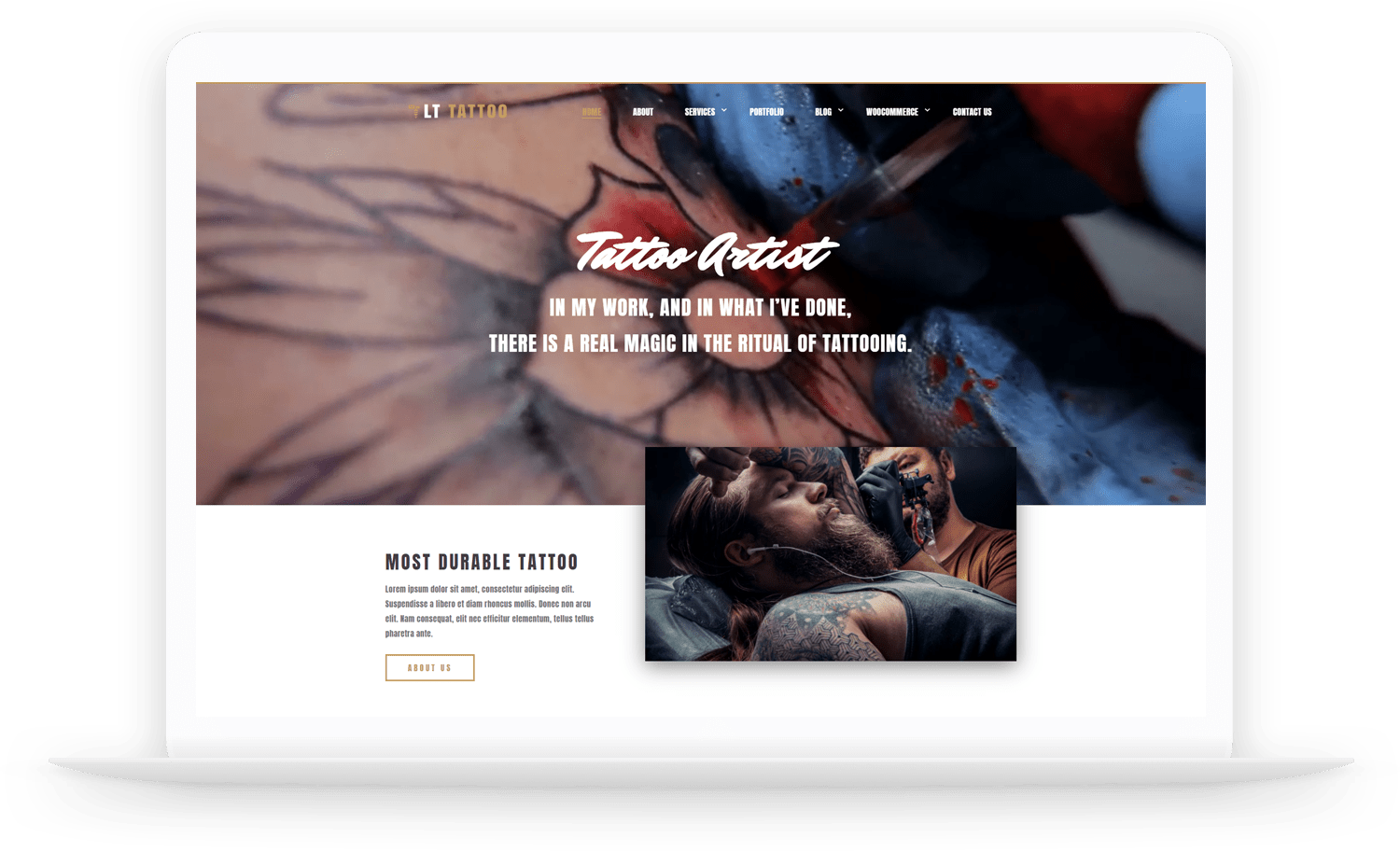 LT Tattoo – Free artist wordpress theme