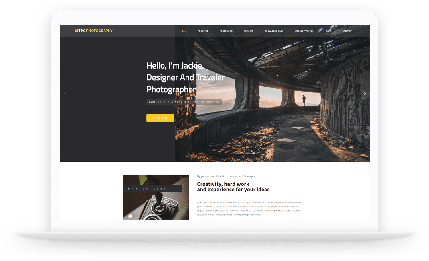 TPG Photography – WordPress Photo Gallery theme