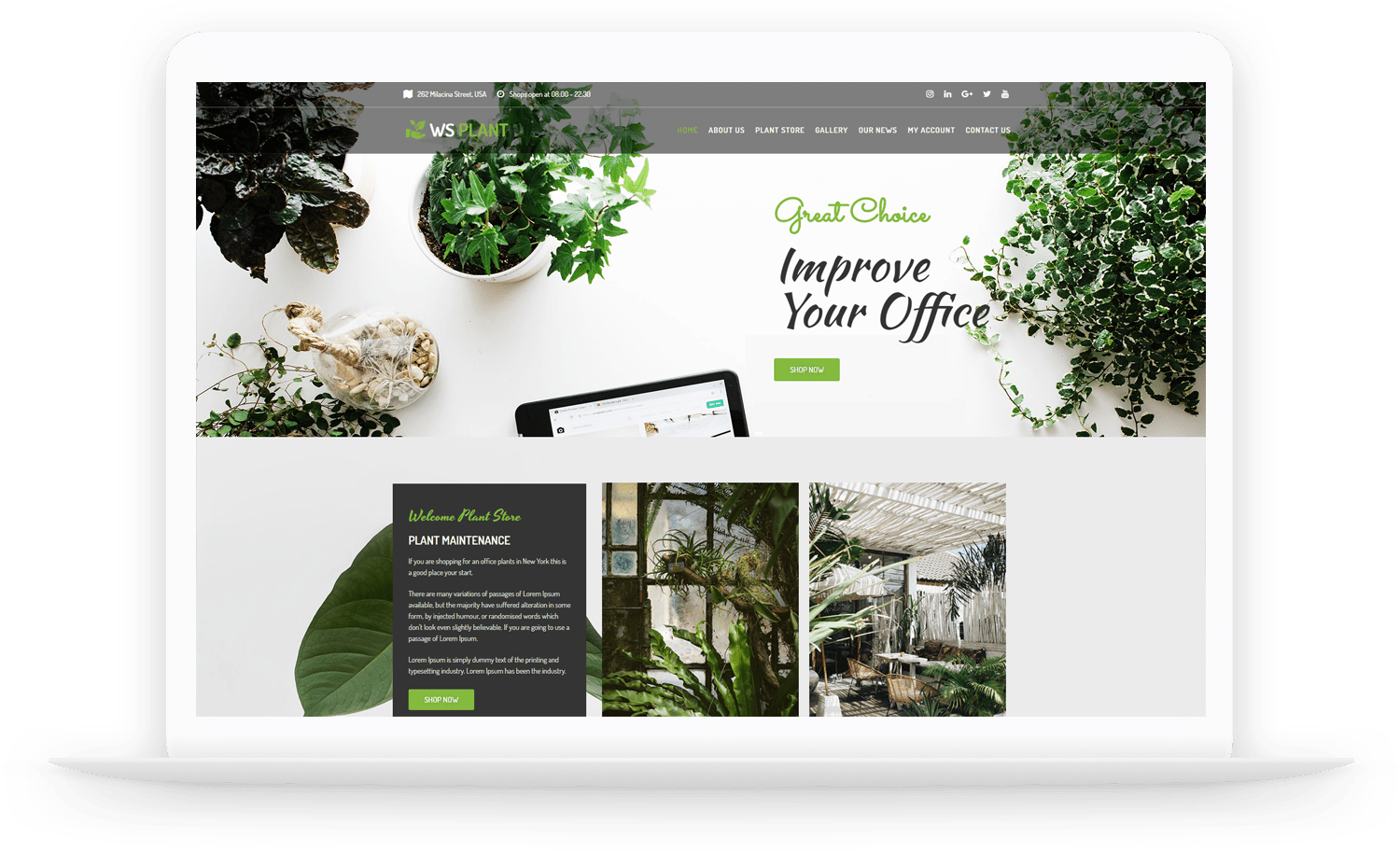 WS Plant – Garden WooCommerce WordPress theme