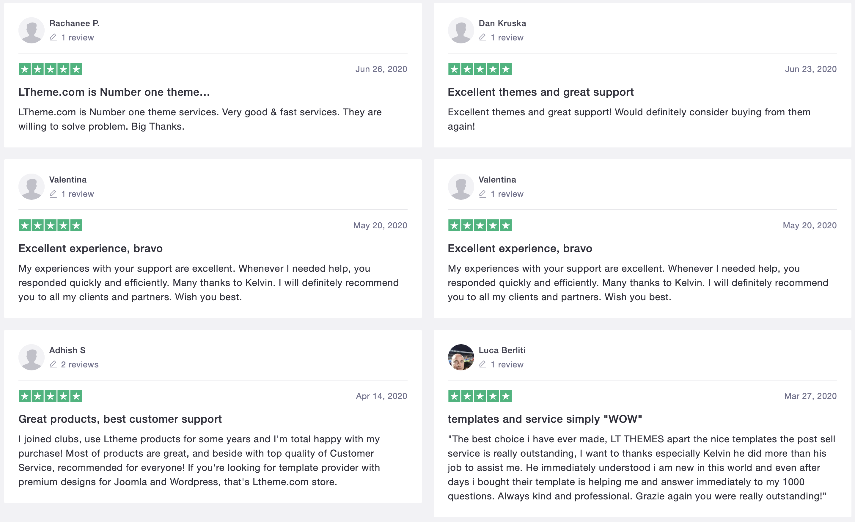 trustpilot reviewed ltheme