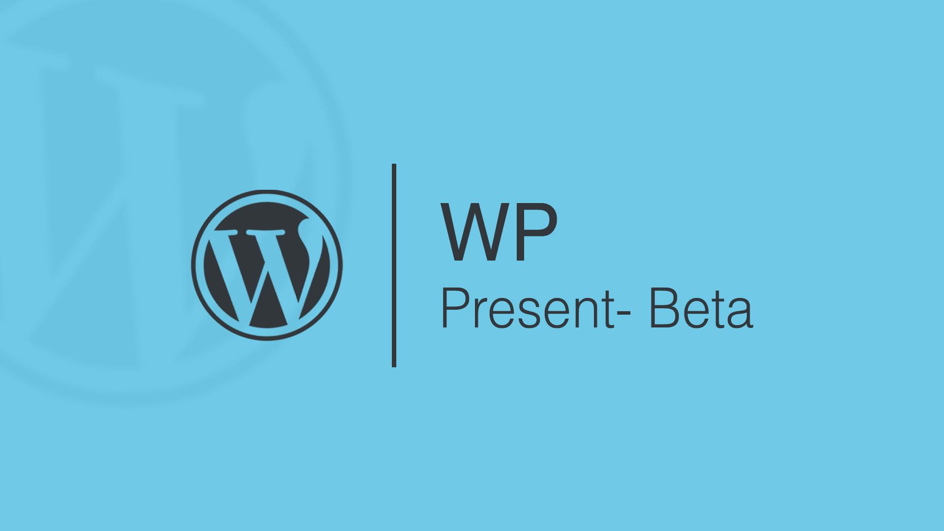 wp-present-beta