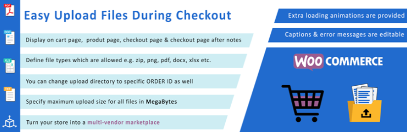 Easy Upload Files During Checkout