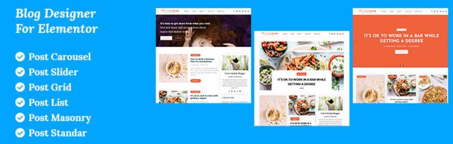 Blog Designer For Elementor