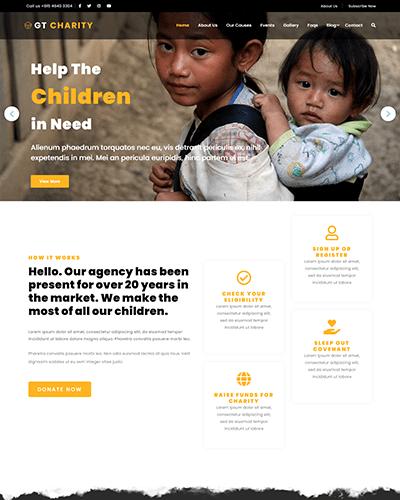 GT Charity – Free Responsive Non Profit WordPress theme
