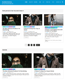 Rubbersoul – Free Responsive Blog WordPress theme