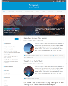 ZeroGravity – Free Responsive Blog WordPress theme