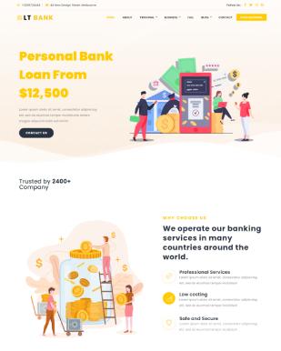 LT Bank – Free Finance/ Investment WordPress Theme