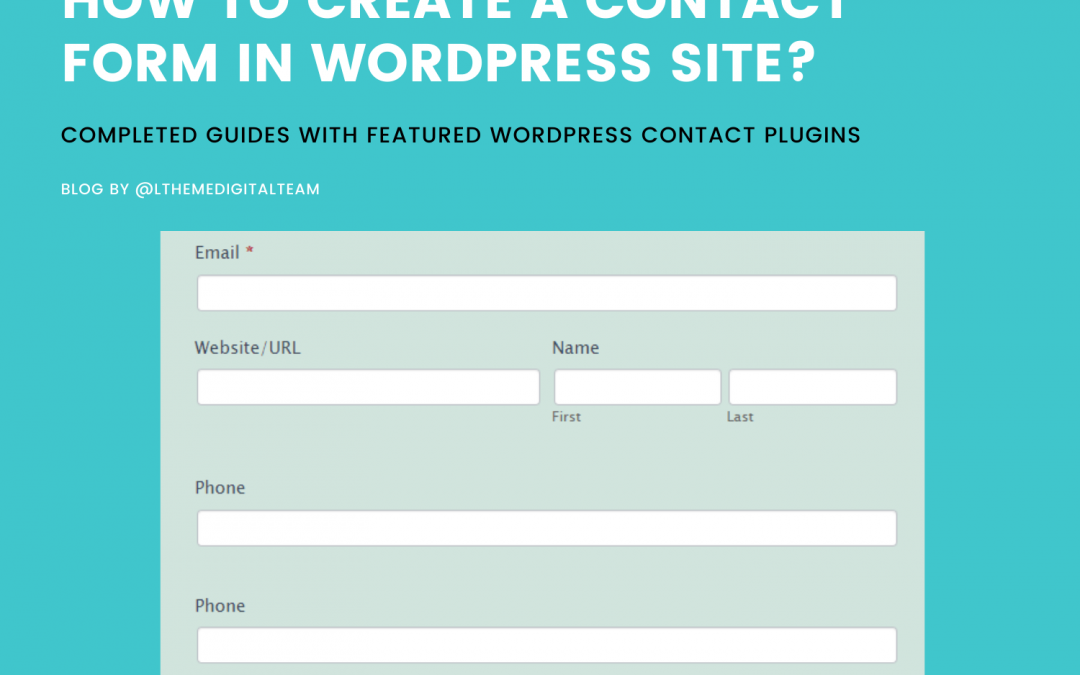 How to create a contact form in WordPress sites?
