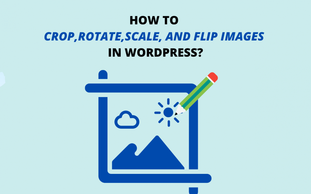 How to edit an image in WordPress? (Crop, Rotate, Scale and Flip)