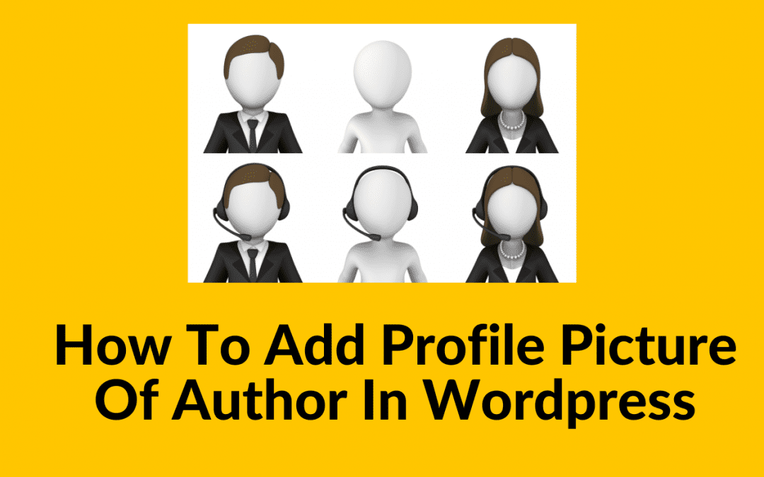 How to add profile picture of author in WordPress
